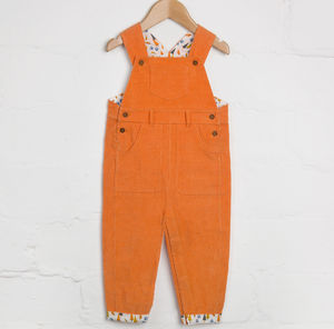 Orange Cord Dungarees - clothing