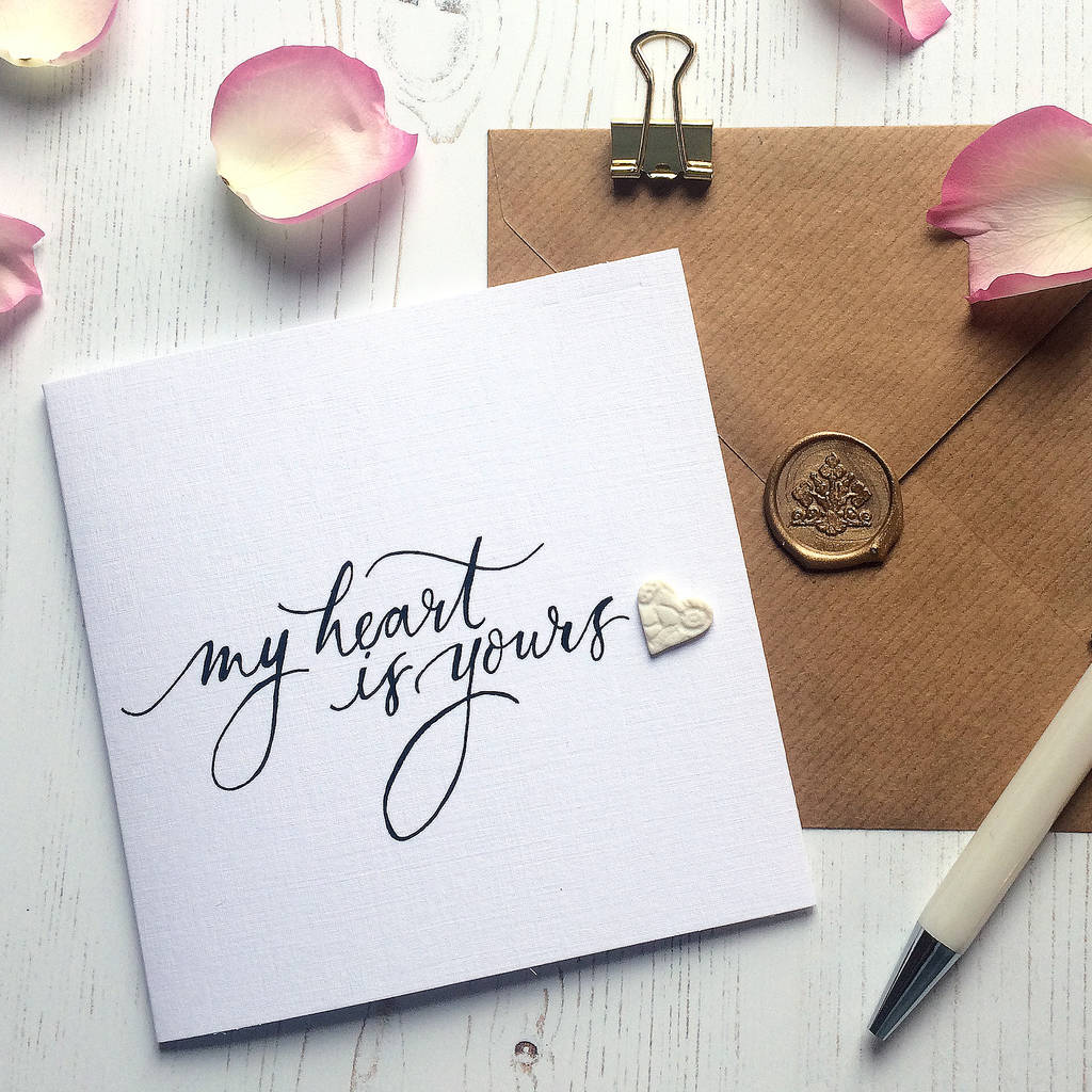 Wedding 'My Heart Is Yours' Card