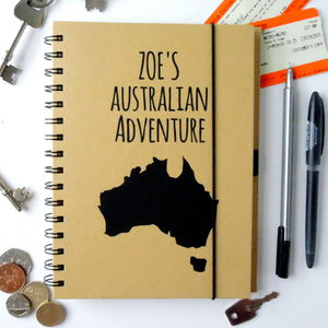 Personalised Travel Journal - gifts for teenage girls