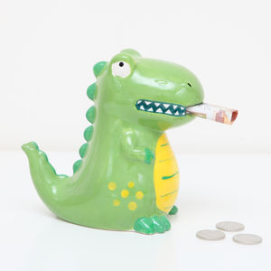 Ceramic Dinosaur Money Box Bank