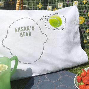Pillowcase For Tennis Lovers Tennis Dreams Headcase