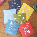 Pack Of Six Printed Christmas Cards
