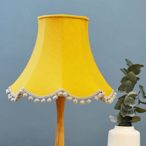 Mustard Linen Traditional Lampshade