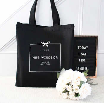 Personalised 'Mrs …' Wedding Tote Bag