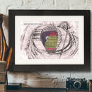 Personalised Illustrated Wembley Stadium Print