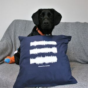 Personalised Sound Wave Cushion - music-lover