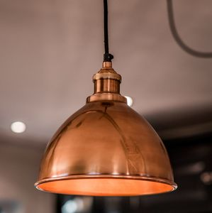 Copper Domed Shade And Fitment - ceiling lights