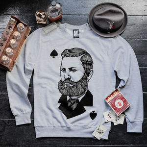 'Speakeasy' Gentlemen Print Unisex Sweatshirt - women's fashion