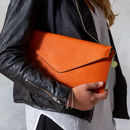 Personalised Clutch Bag - Orange