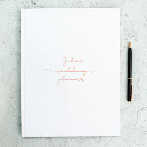 Personalised Copper Wedding Planner - engagement gifts