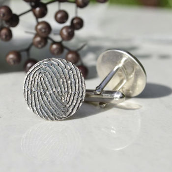 Flat Fingerprint Cufflinks
