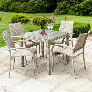 Ocean Fiji Dining Set In Pearl Or Bronze