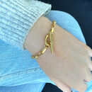 Gold chunky chain toggle bracelet