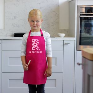 Personalised Children's Alphabet Apron - winter sale
