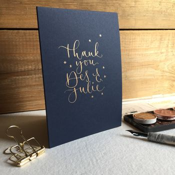 Personalised Thank You Card