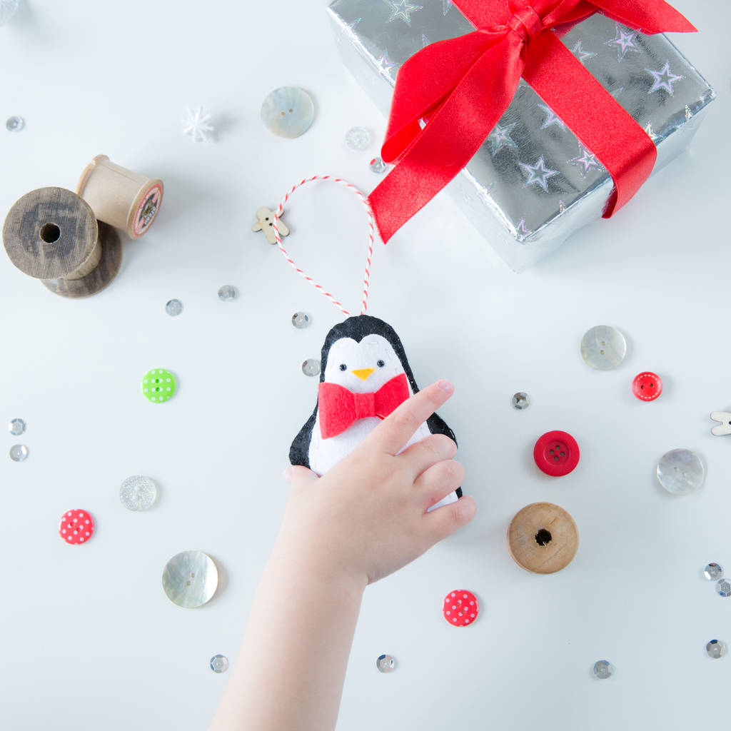 Penguin Christmas Tree: Penguin Couple Christmas Tree Decorations By Miss Shelly