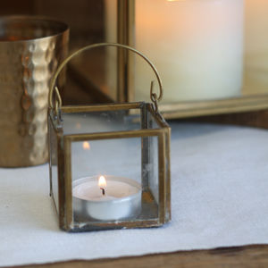 Hanging Brass Tea Light Holder - dining room