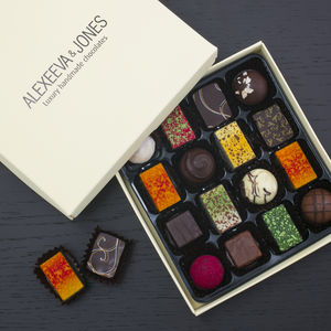 Artisan Chocolates 16 Piece Collection - gifts for couples