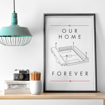'Our Home Forever' Bees Football Stadium Print
