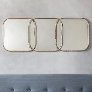 Gold Link Wall Mirror