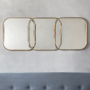 Gold Link Wall Mirror - mirrors