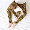 Mama Yellow Leopard Print Leggings