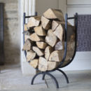 Log Holder Large In Wrought Iron
