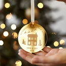 New Home Personalised Christmas Bauble