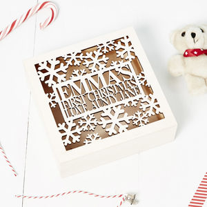 Personalised Babys First Christmas Keepsake - children's room