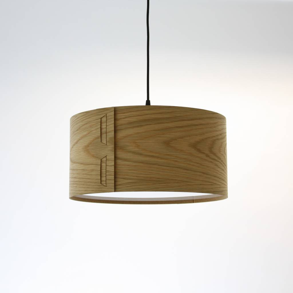 Ceiling and table lampshades notonthehighstreet tab oak veneer light shade lighting aloadofball Gallery