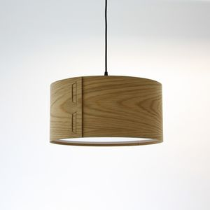 Tab Oak Veneer Light Shade - lighting