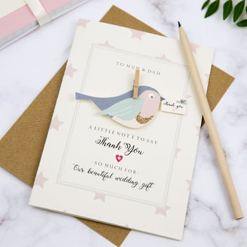 Personalised Thank You Bird Card