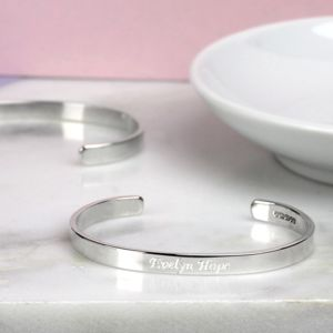 Personalised Child's Silver Bracelet - bracelets