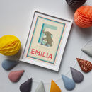 Personalised 'Emotions A To Z' Single Letter Name Print