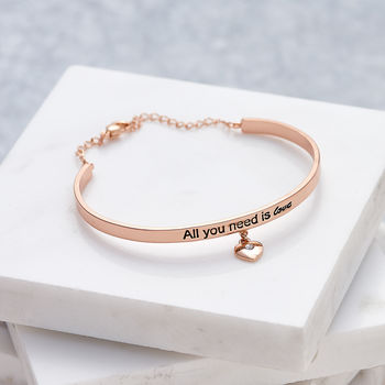 All You Need Is Love Rose Gold Bracelet