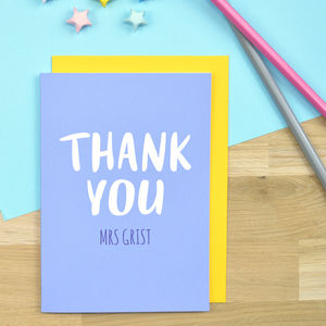 Personalised 'Thank You' Teacher Card - summer sale