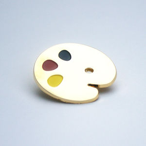 Gold Palette Pin Badge - pins & brooches