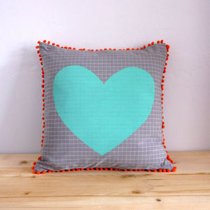Colour Pop Heart Cushion - cushions