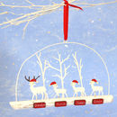 Personalised Christmas Reindeer Family Of Four