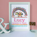 Personalised Magic Unicorn Print