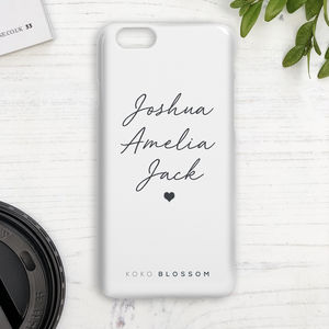 Personalised Children's Names Phone Case