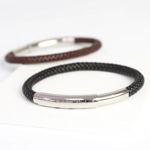 Men's Personalised Adjustable Leather Bracelet