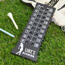 Personalised Golf Score Counter