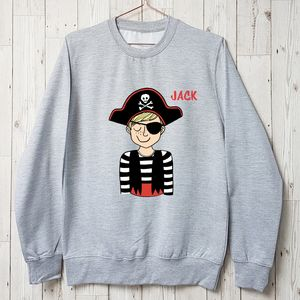 It's A Pirate's Life Personalised Boys Sweatshirt