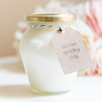 Handmade On Your Wedding Day 50 Hour Soy Jar Candle
