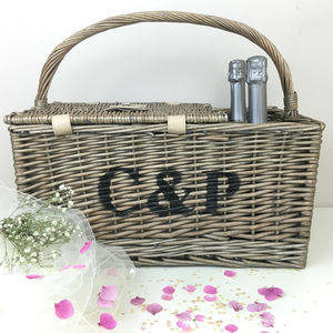 Personalised Picnic Basket - summer garden