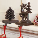 Woodland Cast Iron Christmas Stocking Hangers