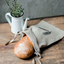 Reusable Natural Linen Bread Bag