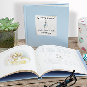 Personalised Peter Rabbit Little Guide To Life Book - christening gifts