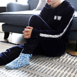 Velvet Velour Navy Onesie - gifts for teenagers